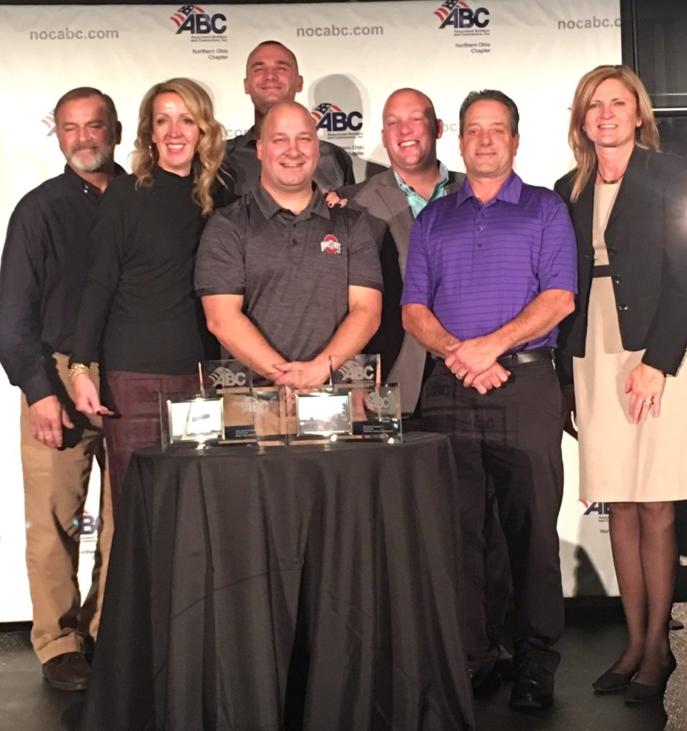 Pictured here with their awards are Service Manager Keith Karbine, Director of Business Development Debra Dixon, HVAC Install Technician Scott Stonisch (in rear), Automation Group Controls Technician Kris Kasarda (front), Automation Group Manager Ed Rebish, HVAC Install Technician Phil Power and Vice President/General Manager Lisa Senger.